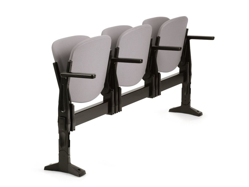 Beam seating with armrests with tip-up seats AGORÀ SBR | Beam seating with armrests by Emmegi