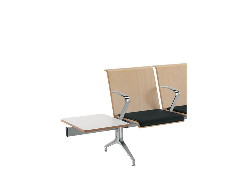 Wooden beam seating with armrests LINATE | Beam seating with armrests by Sesta