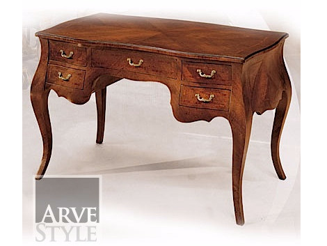 Solid wood writing desk with drawers BEATRICE - Arvestyle