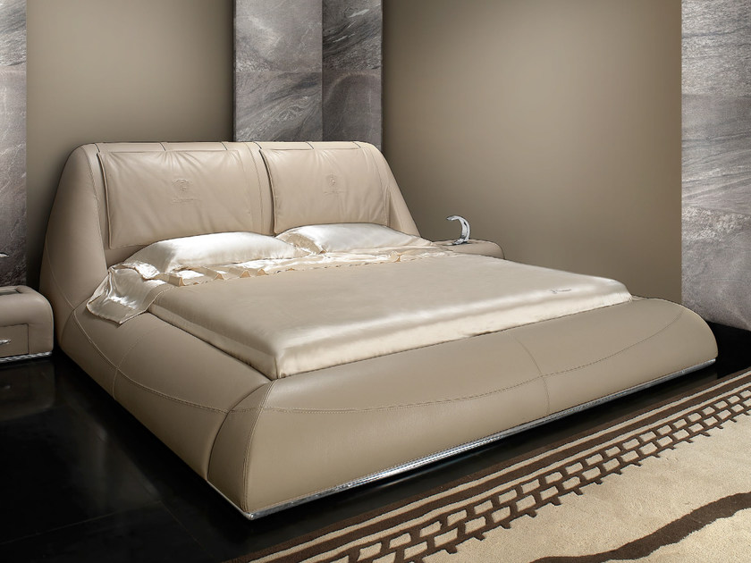 Leather double bed with upholstered headboard BEST | Bed - Tonino Lamborghini Casa by Formitalia Group
