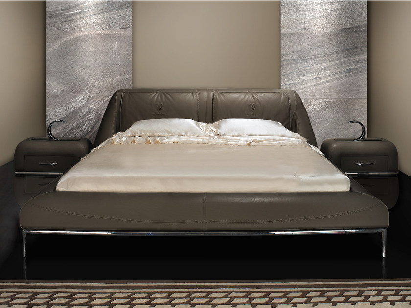 Leather double bed with upholstered headboard BEST MODERN | Bed - Tonino Lamborghini Casa by Formitalia Group