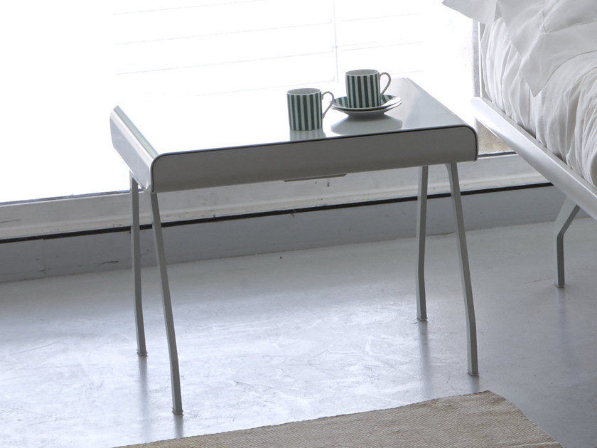 Rectangular aluminium bedside table with drawers TELEMARK   Bedside table - iCarraro italian makers