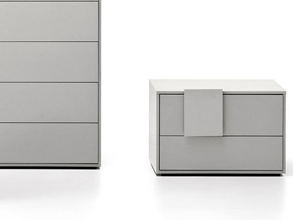 Lacquered bedside table with drawers DOTTY   Bedside table by Novamobili