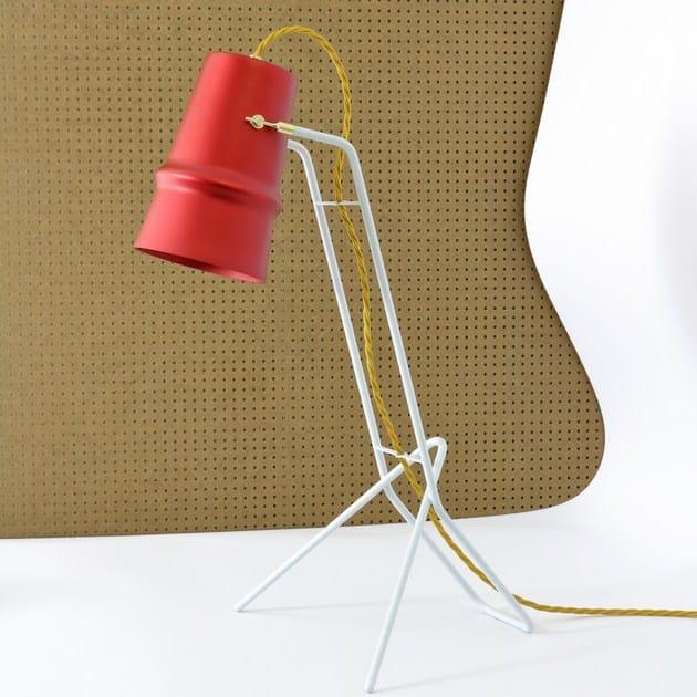 Aluminium desk lamp BELLE D'I | Desk lamp by Hind Rabii