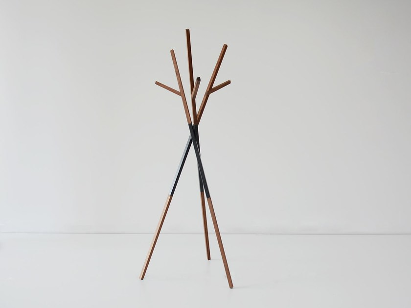 Solid wood coat stand BELLWOODS | Walnut coat rack by hollis+morris
