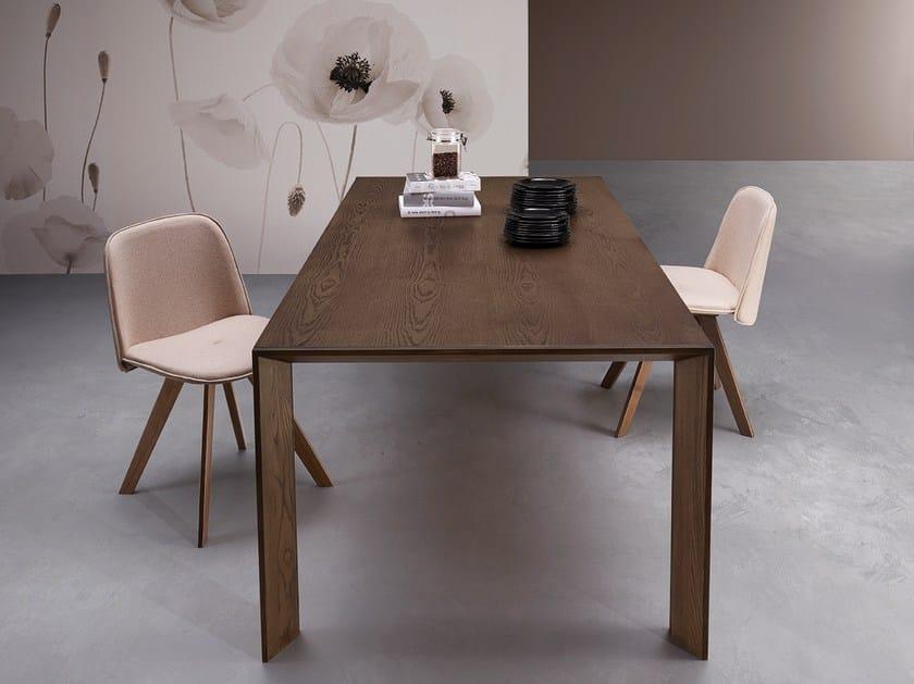 Extending rectangular wooden table BEN by Natisa