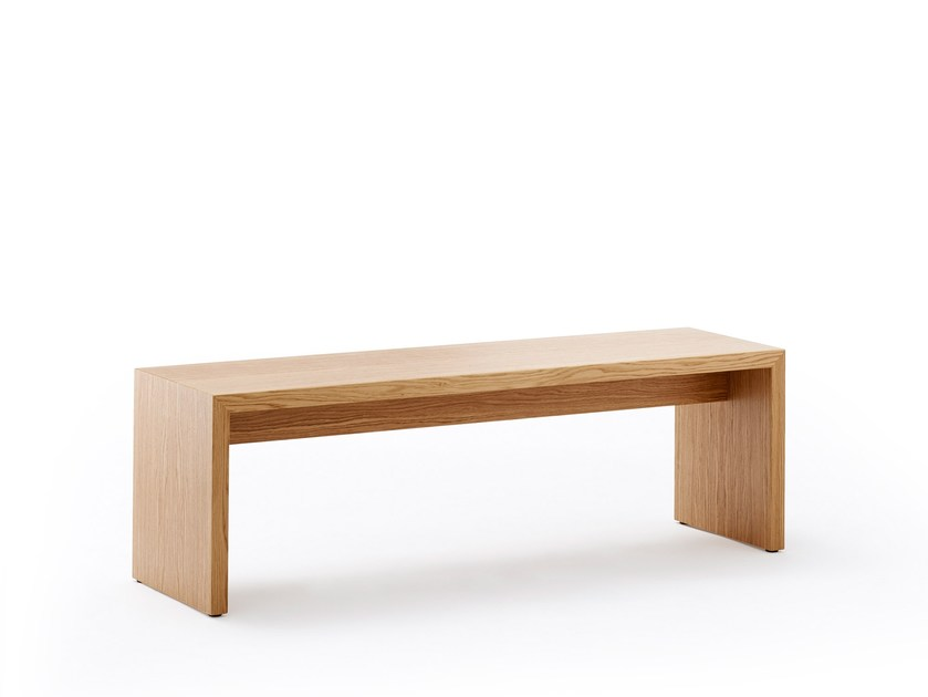 Backless wood veneer bench seating LIMES | Bench seating by rosconi