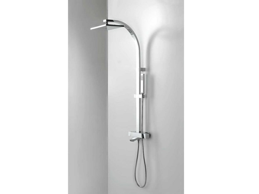 Wall-mounted bathtub tap with overhead shower BEND MIX - Systempool