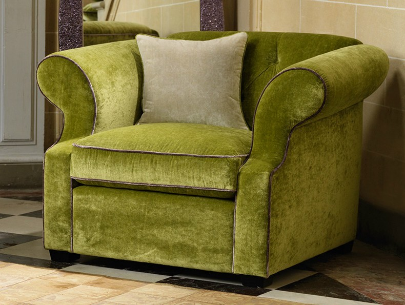 Upholstered fabric armchair with armrests BENJAMIN | Armchair - Domingo Salotti