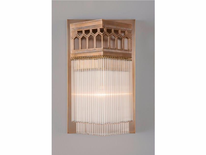 Lampada da parete a luce diretta in ottone BERLIN II | Lampada da parete - Patinas Lighting
