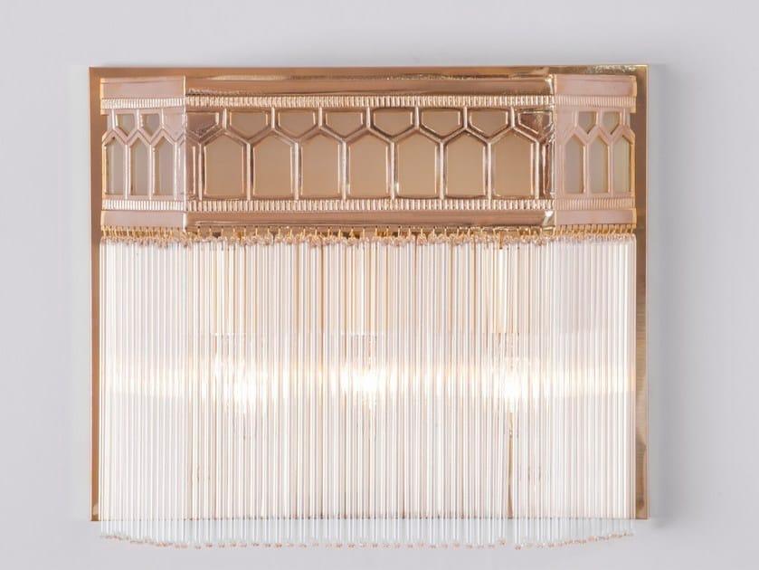 Direct light brass wall lamp BERLIN III | Wall lamp - Patinas Lighting