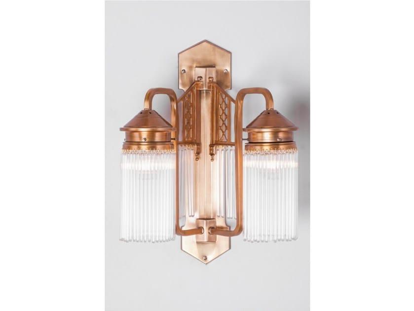 Lampada da parete a luce diretta in ottone BERLIN V | Lampada da parete - Patinas Lighting