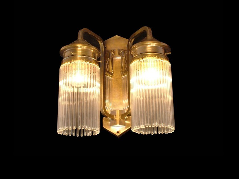 Direct light brass wall lamp BERLIN VI | Wall lamp - Patinas Lighting