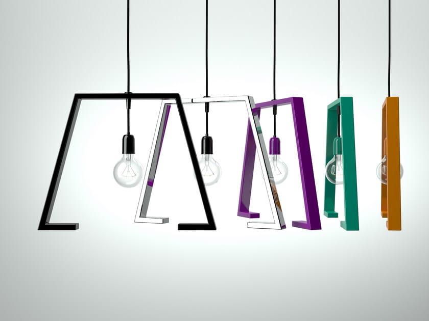 Painted metal pendant lamp BERLINER 1 - Altinox Minimal Design