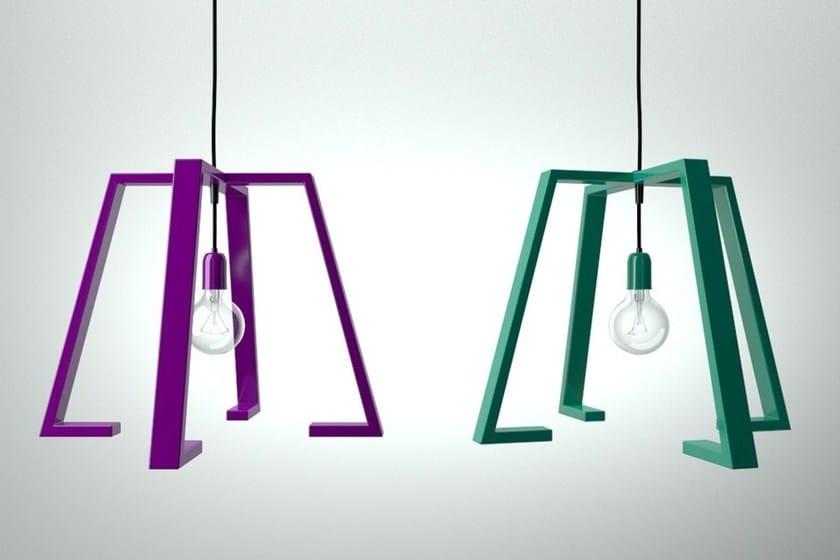 Painted metal pendant lamp BERLINER 2 - Altinox Minimal Design