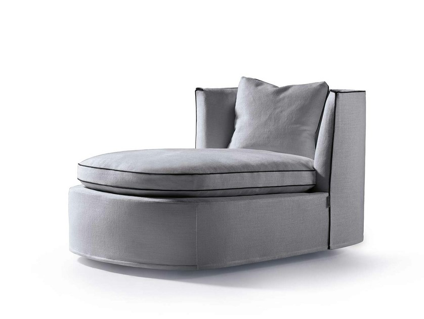 Upholstered fabric day bed BESSIE LONGUE by Frigerio Salotti