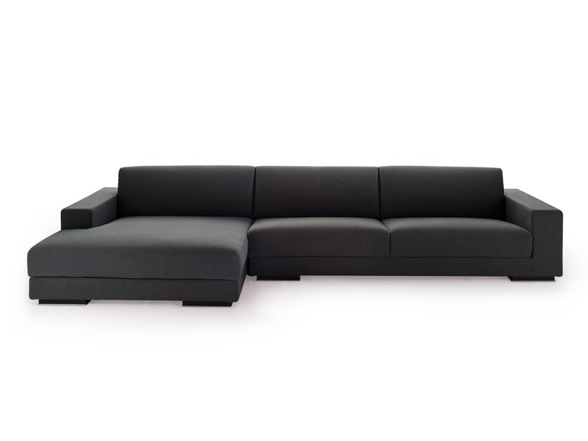 Fabric sofa with chaise longue BEST | Sofa with chaise longue - Arketipo