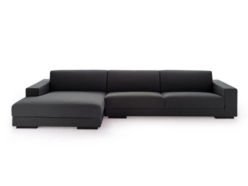 Divano in tessuto con chaise longue BEST | Divano con chaise longue by Arketipo