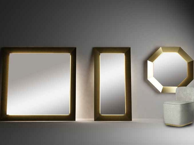 Mirror with integrated lighting BEST WORLD - Paolo Castelli