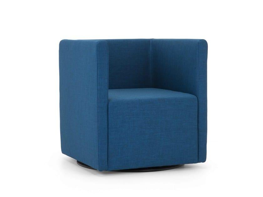 Upholstered fabric armchair BETTIE | Armchair - Domingo Salotti