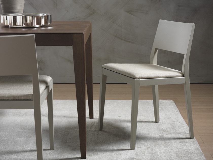 Upholstered solid wood chair BETTY | Chair - Pacini & Cappellini