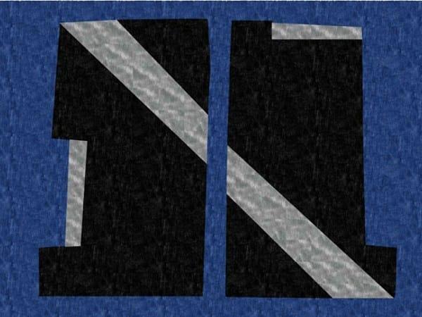 Handmade rectangular rug BI LINE - Deirdre Dyson