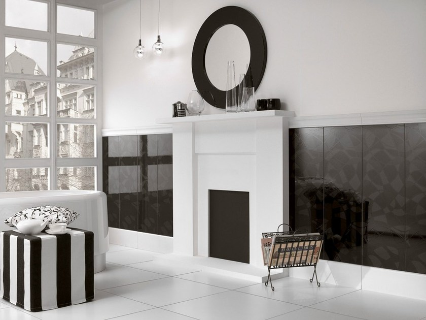 Indoor porcelain stoneware wall/floor tiles BIANCO NERO - Villeroy & Boch Fliesen