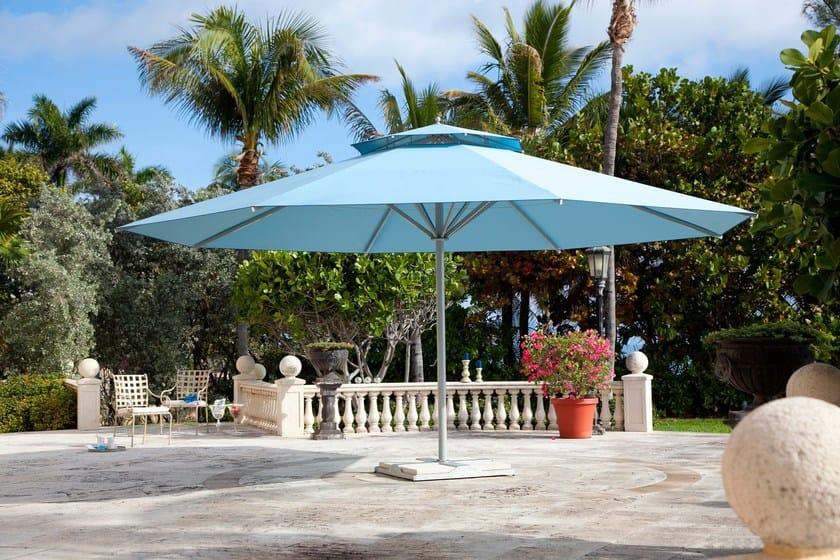 Round acrylic Garden umbrella with built-in lights with integrated heating BIG BEN | Round Garden umbrella by Michael Caravita