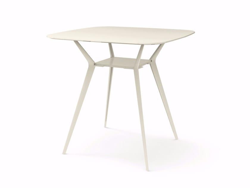 Square high table BIPLANE 120X120 HIGH - 454 - Alias