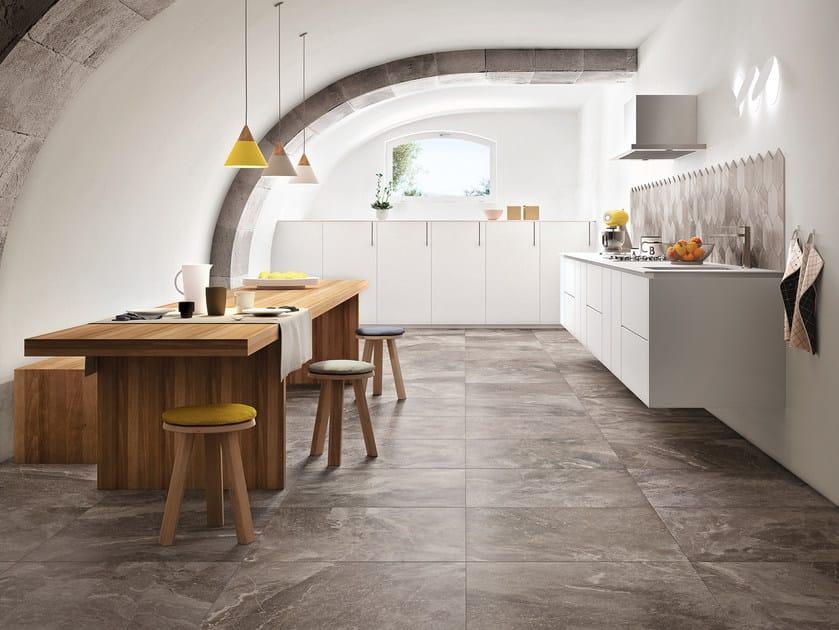 Pavimento in gres porcellanato effetto marmo bistrot - Rivestimenti cucina marazzi ...