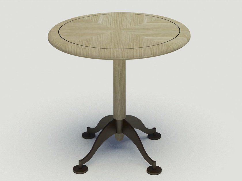 Round oak table BISTROT | Round table - Paolo Castelli