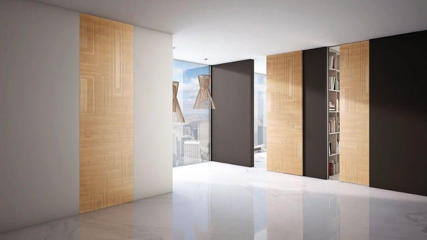 Porta a filo muro in stile moderno BIT by BARAUSSE