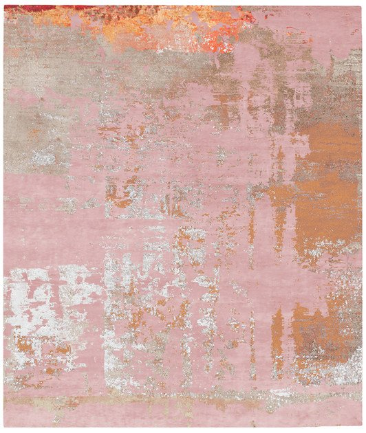 Handmade rectangular rug BJORKA BODUM - HENZEL STUDIO