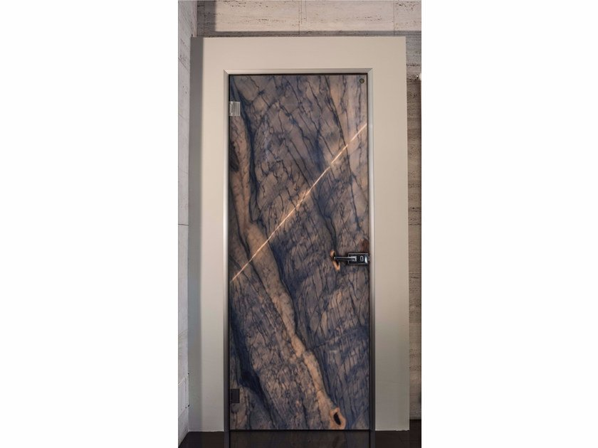 Hinged marble door BLIZZARD by Placidia