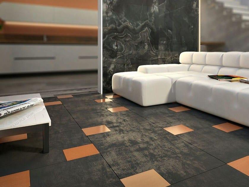 Pavimento in gres porcellanato e vetro BLOCK - VETROVIVO
