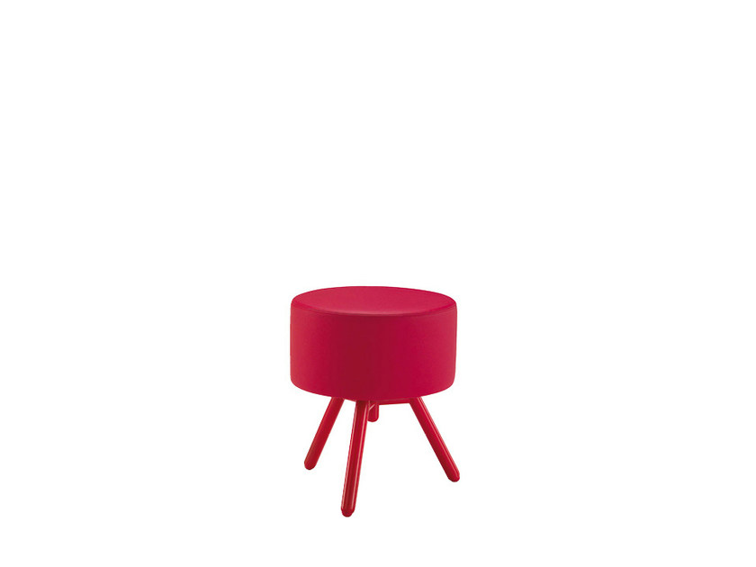 Low upholstered fabric stool BLOG | Low stool - Sesta