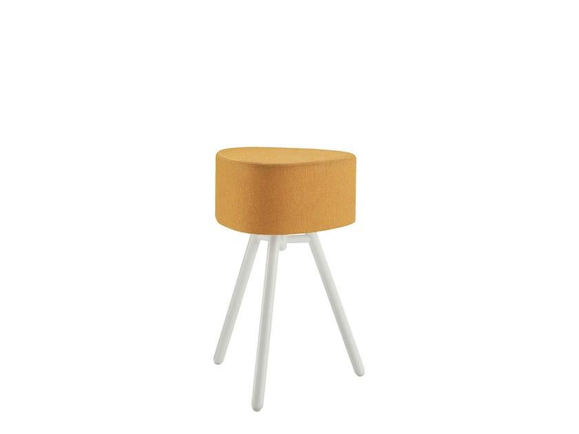 Upholstered fabric stool BLOG   Stool - Sesta