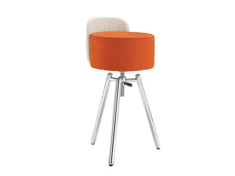 Upholstered height-adjustable fabric stool BLOG | Upholstered stool - Sesta