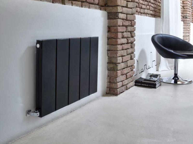 Wall-mounted aluminium decorative radiator BLOK LIVING - RIDEA