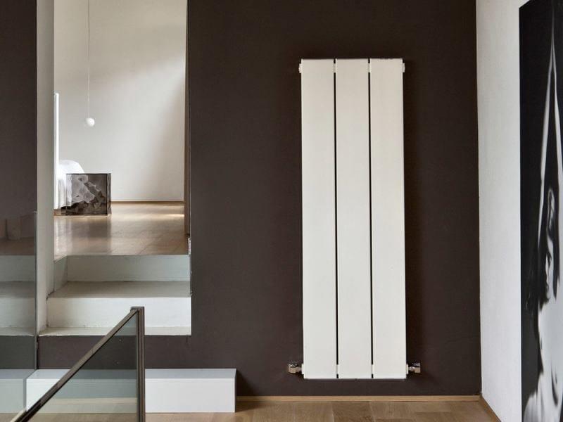 Wall-mounted aluminium radiator BLOK ZERO by RIDEA
