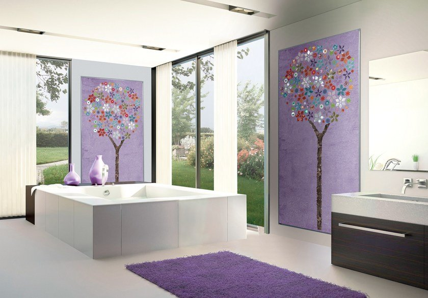 Glass mosaic BLOOMING by VETROVIVO