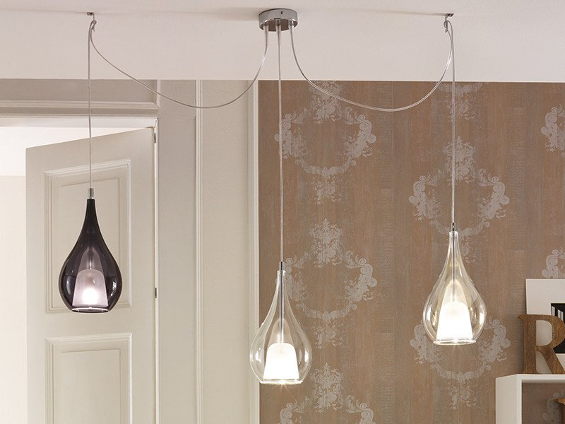 Direct light blown glass pendant lamp ZOE | Blown glass pendant lamp by Cangini & Tucci