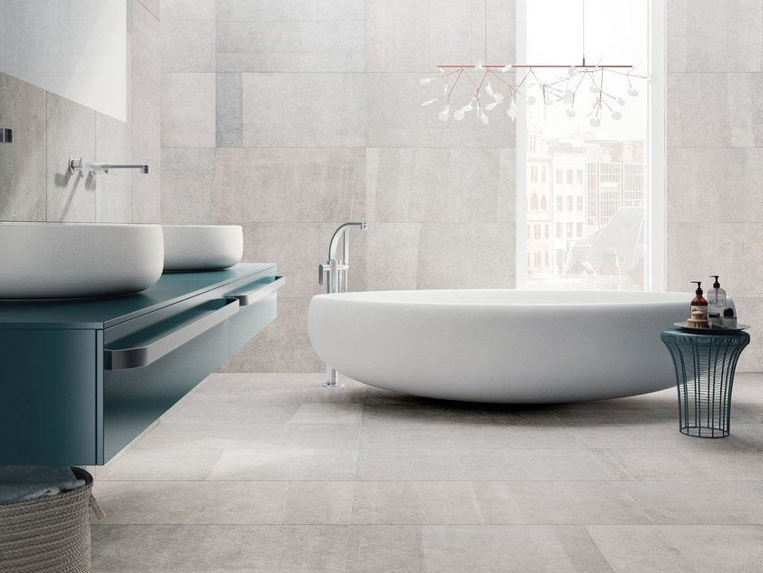 Porcelain stoneware wall/floor tiles with stone effect BLUE EMOTION by Ceramiche Refin
