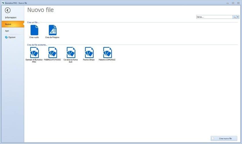 bStart - nuovo file