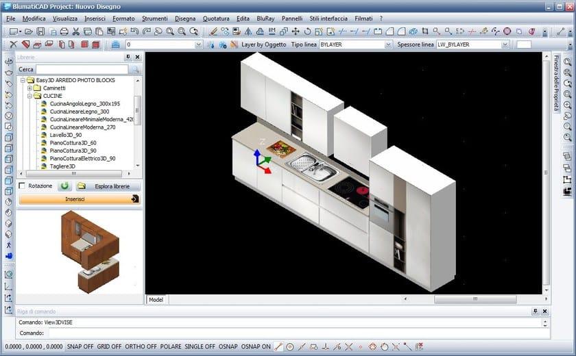 Disegno tecnico cad 2d 3d blumaticad easy 3d blumatica for Software arredamento