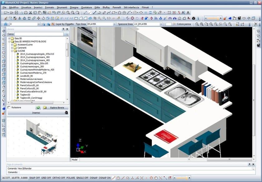 Disegno tecnico cad 2d 3d blumaticad easy 3d blumatica for Software per disegno 3d