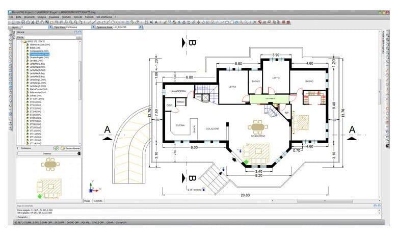 Disegno tecnico cad 2d 3d blumaticad project blumatica for Cucine 3d dwg