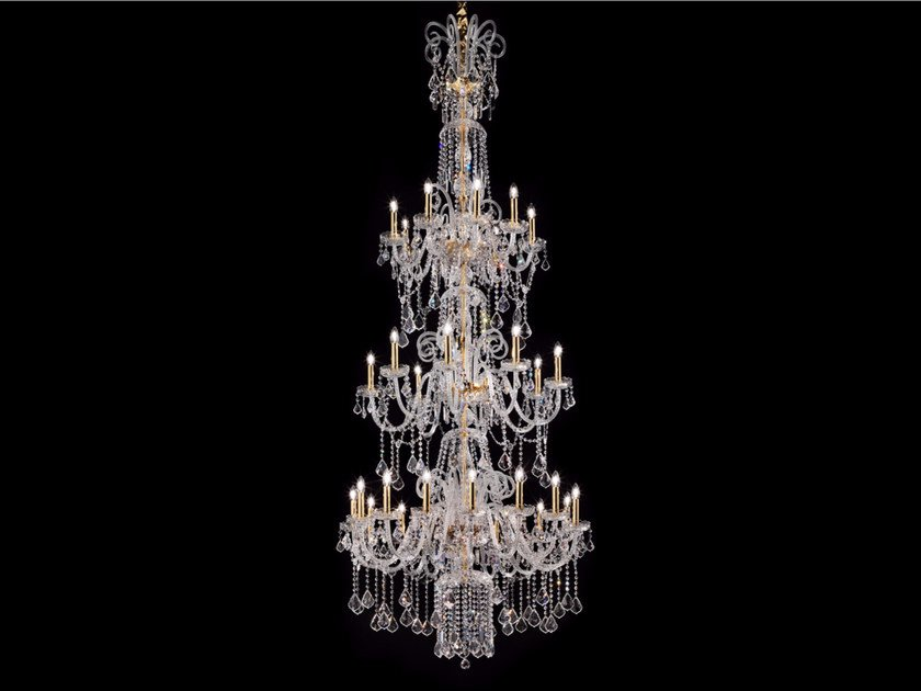 Direct light incandescent blown glass chandelier with crystals BOHEMIA VE 871 | Chandelier - Masiero