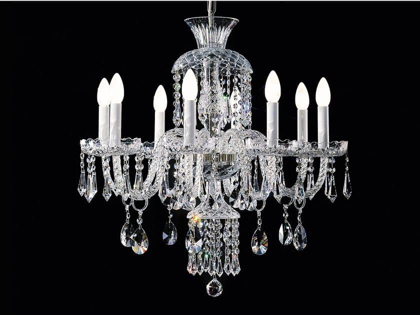 Lampadario a luce diretta incandescente in vetro soffiato con cristalli BOHEMIA VE 878 | Lampadario - Masiero