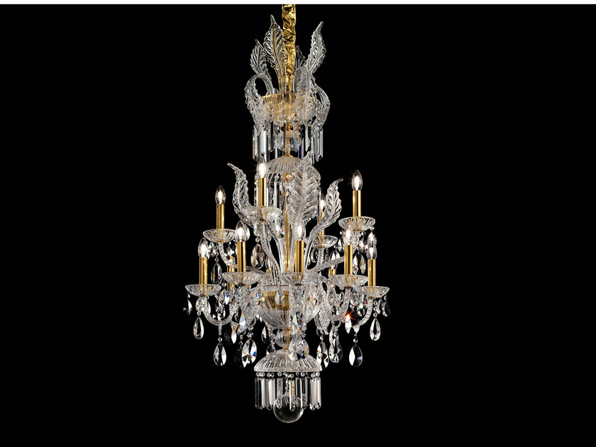 Direct light incandescent blown glass chandelier with crystals BOHEMIA VE 886 | Chandelier - Masiero